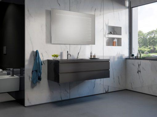 Lustro 3D Do łazienki Dafne LED 1