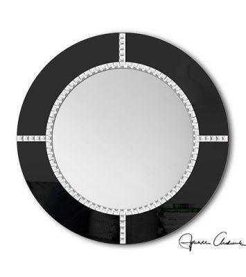 Lustro Okrągłe Czarne Lub Białe Fenis2