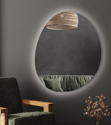 Lustro O Nieregularnym Kształcie Simple Vaillent LED