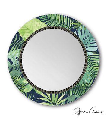 Nowoczesne Lustro Kolorowe Tropic2 W Do Salonu