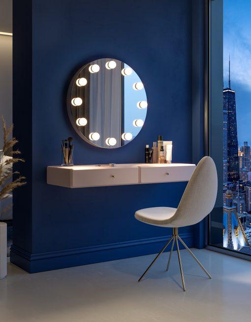 Okrągłe Lustro z Lampkami LED - Glori5